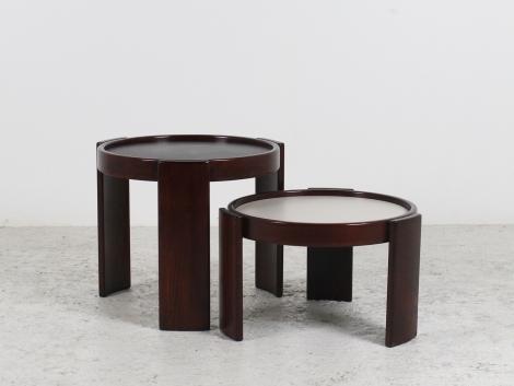 2 tables de Gianfranco Frattini pour Cassina circa 1960 1