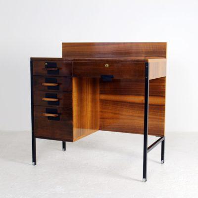 Bureau vintage en palissandre, années 50, d'Ico Parisi édité par MIM, design italien.