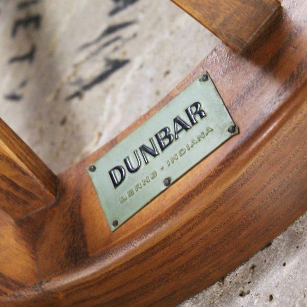Guéridon vintage en teck et marbre 1950, d'Edward Wormley pour Dunbar.