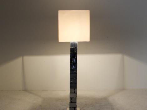 Lampadaire en métal chromé de Curtis Jere, 1970