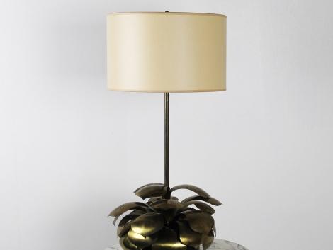 Lampe en laiton doré 1960 1