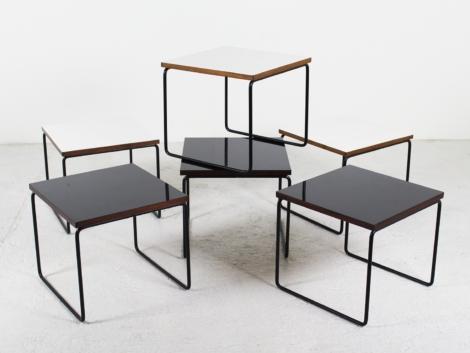 Lot de 6 tables basses de Pierre Guariche pour Steiner, 1950 1