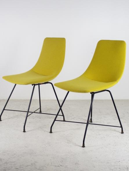 Paire de chaises d'Augusto Bozzi pour Fratelli Saporiti, 1956