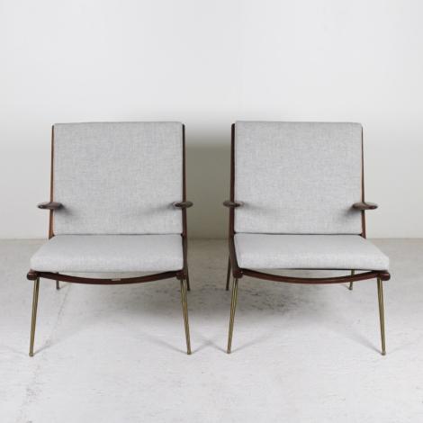 Paire de fauteuils Boomerang FD-1340 de Peter Hvidt et Orla Molgaard-Nielsen pour France & Son 1