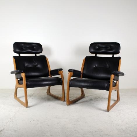 Paire de fauteuils danois 1960