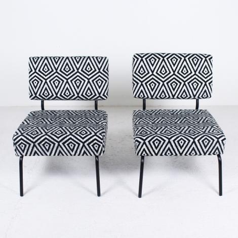 Paire de fauteuils de Jacques Hitier pour Tubauto circa 1950 3