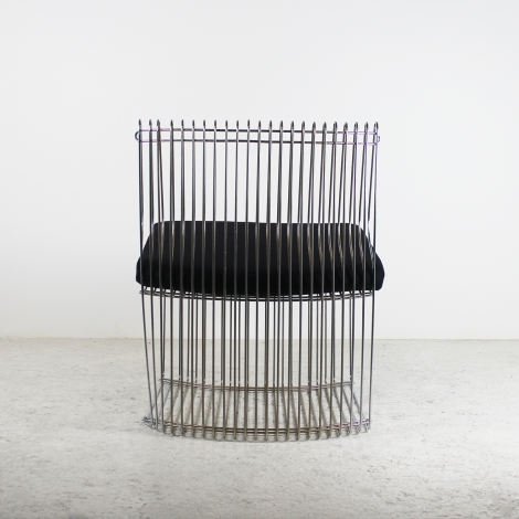 Paire de fauteuils en métal chromé de Verner Panton, 1970 2