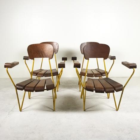 Série de 4 fauteuils de Cesar Janello, circa 1955 2