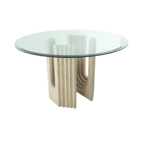 Table ronde en verre