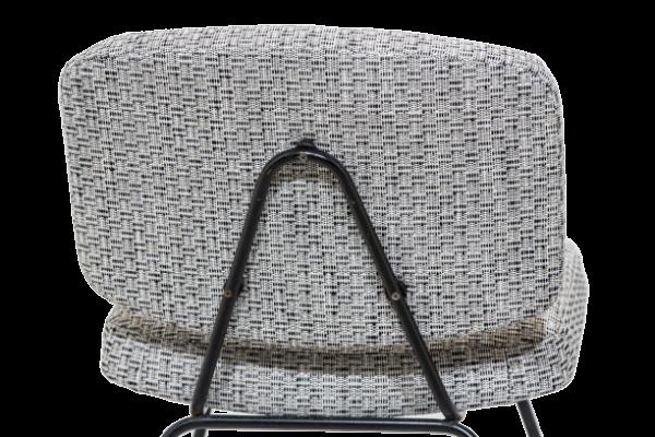 Chauffeuses vintage, modèle CM190, de Pierre Paulin, édition Thonet, années 50. Piétement tubulaire laqué noir, assises en mousse recouverte de tissu Casamance.