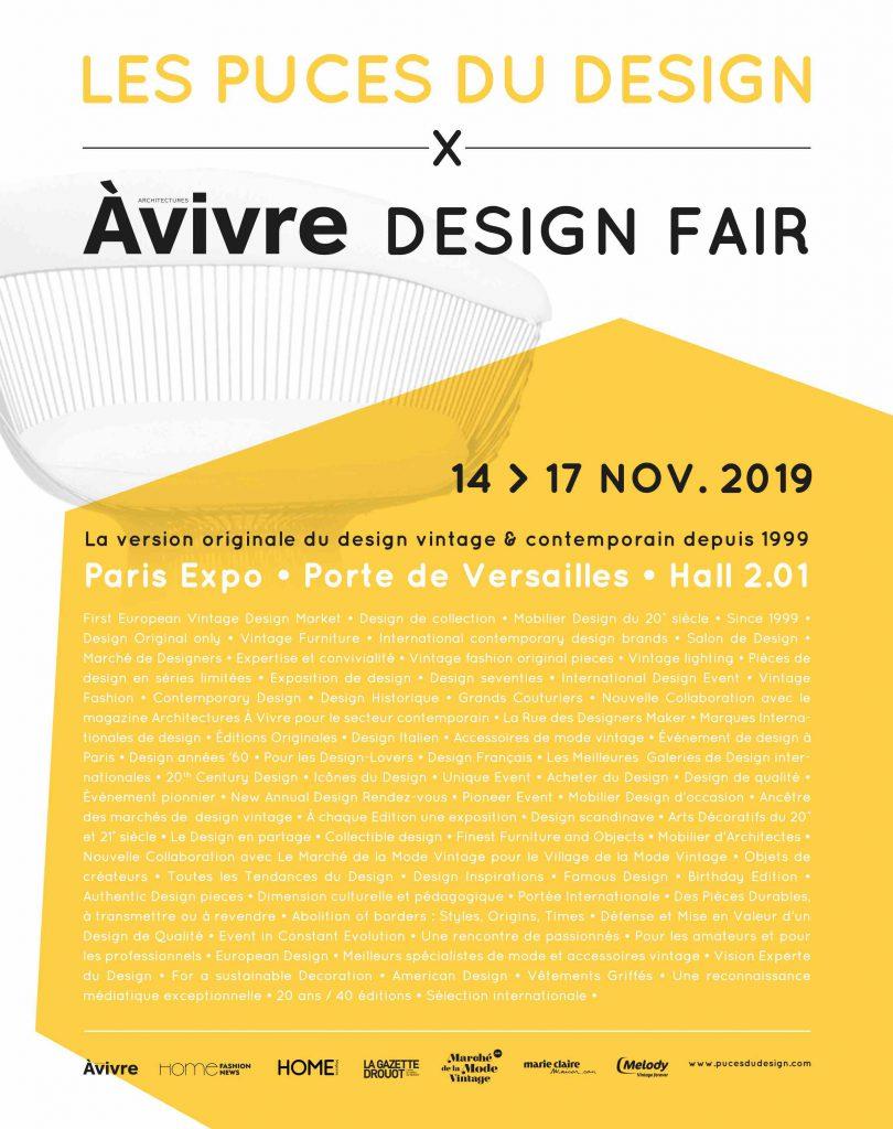 Les Puces du Design, du 14 au 17 novembre au Parc des expositions de la porte de Versailles à Paris