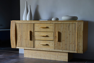 commode bambou accueil