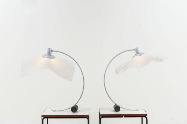 Paire de lampes Area par Mario Bellini