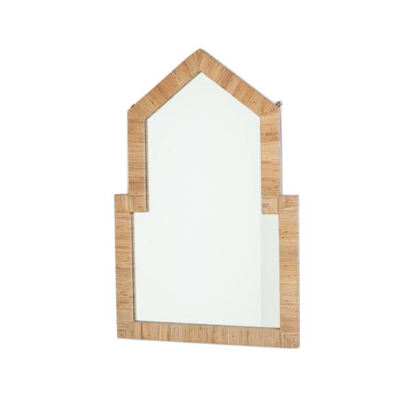 Miroir en bambou