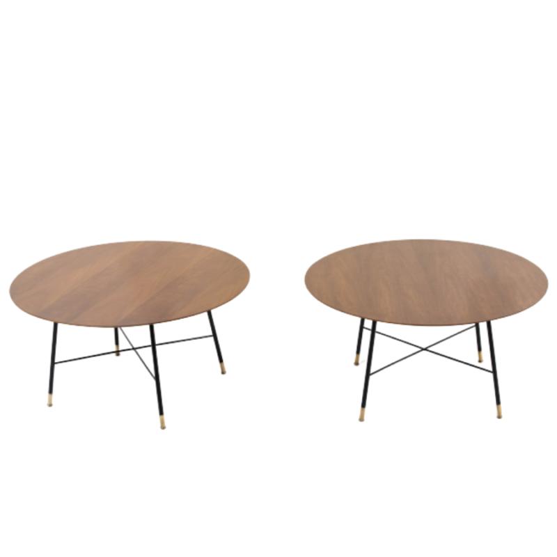 Paire de tables basses en bois design et vintage