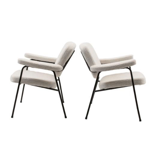 Paire de fauteuils CM190F de Pierre Paulin, édition Thonet 1956