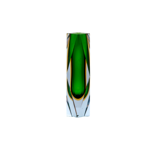 Vase rétro Sommerso, en verre de Murano, années 50.