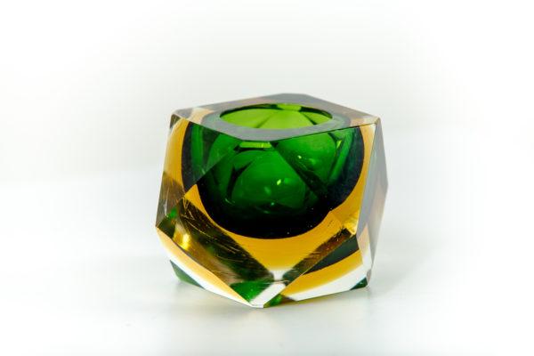 Cendrier vintage en verre de Murano des années 50 attribués à Flavio Poli