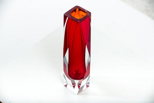 Vase vintage en verre de Murano des années 50 attribués à Flavio Poli