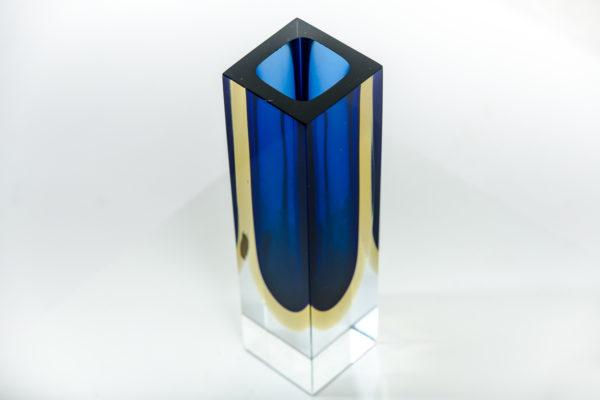 Vases vintage en verre de Murano des années 50 attribués à Flavio Poli