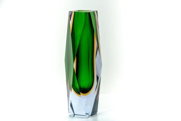 Vase Sommerso en verre de Murano des années 50 attribués à Flavio Poli