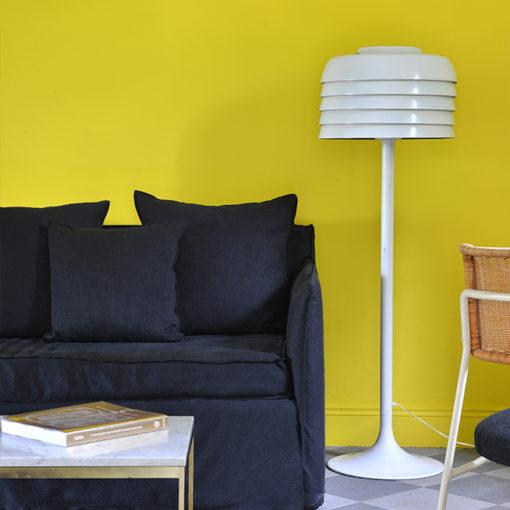 Emmanuelle Vidal ose la couleur pour la décoration de cette chambre d'hôtel
