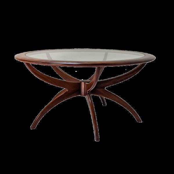 Table basse spider designée par Victor Wilkins années 70