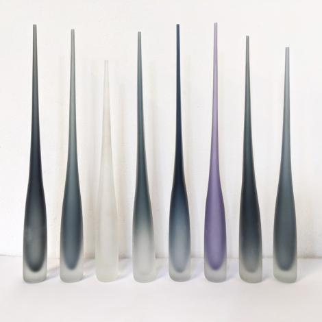 Vases flûte en verre de Murano Sommerso, par Vivarini, collection Glass Bottles