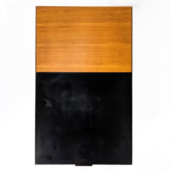 Table basse vintage en orme signée André Simard