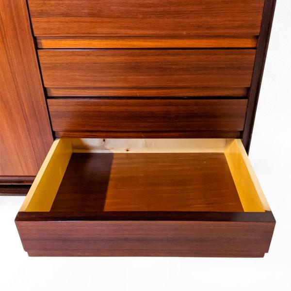 Meuble cabinet vintage des années 50 en palissandre de Vittorio Dassi