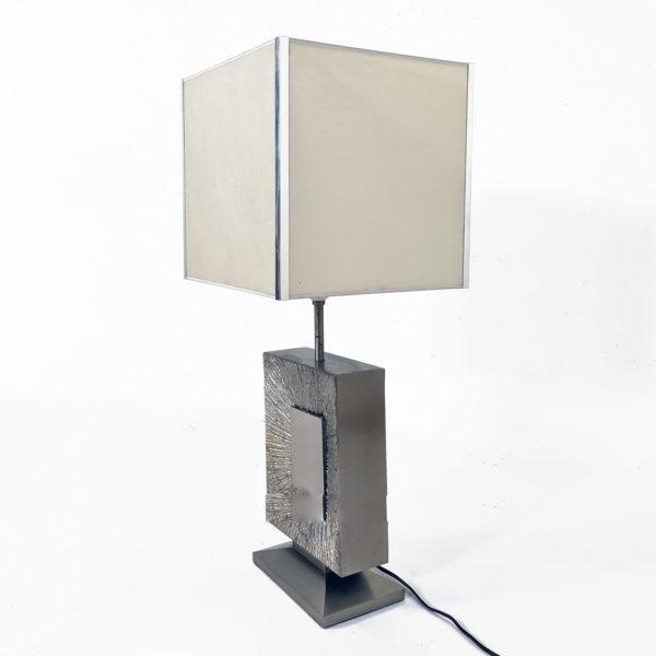 Lampe vintage en bronze argenté de la Maison Baguès 1970