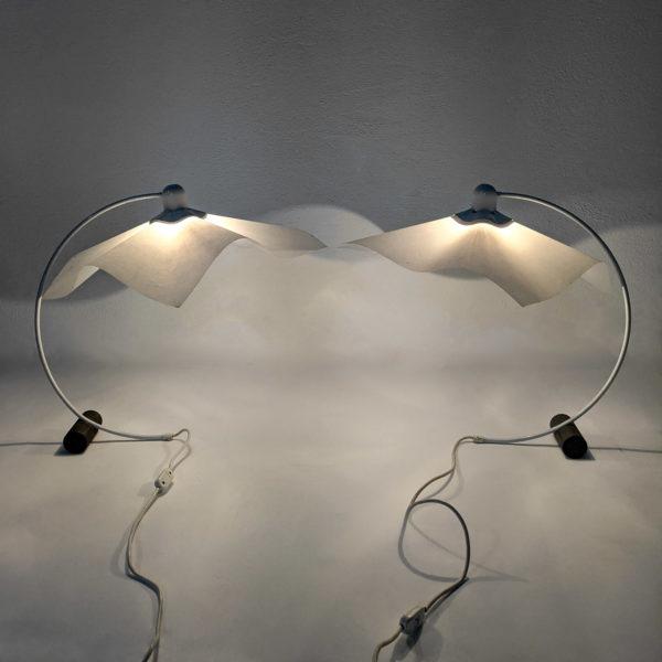 Paire de lampes Area de Mario Bellini pour Artemide, 1970