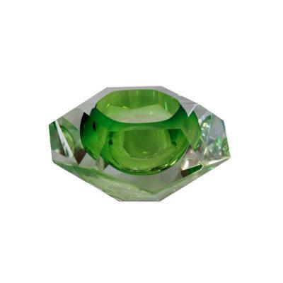Cendrier Sommerso en verre de Murano vert, 1950 - Emmanuelle Vidal Galerie