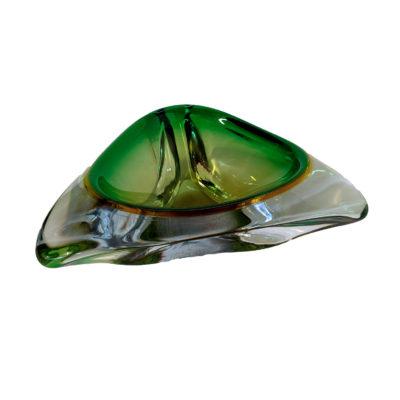 Cendrier vert en verre de Murano des années 50 - Emmanuelle Vidal