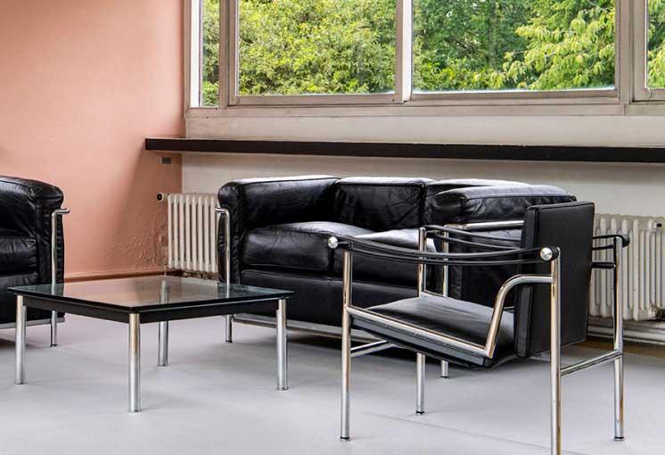 Ensemble de Charlotte Perriand, Pierre Jeanneret, Le Corbusier - Mobilier National à la Villa Savoye